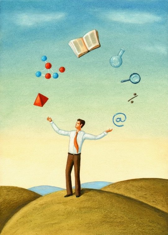 Illustrations about books - Mariusz Stawarski - The juggler