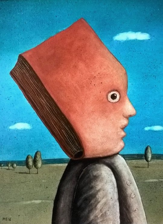 Illustrations about books - Mariusz Stawarski - The book character