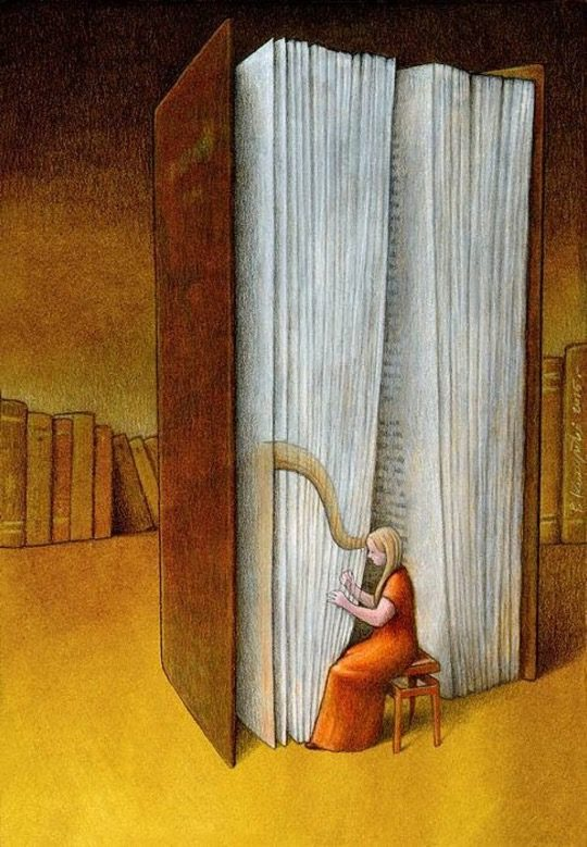 Illustrations about books - Pawel Kuczynski - Beautiful notes