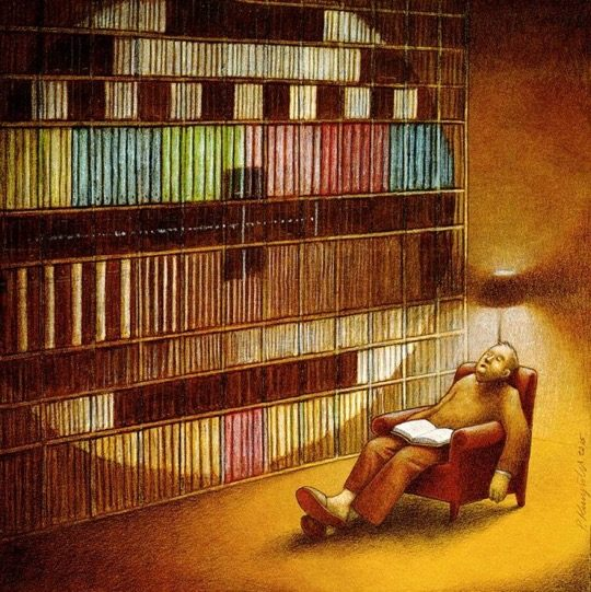 Illustrations about books - Pawel Kuczynski - Break in transmission
