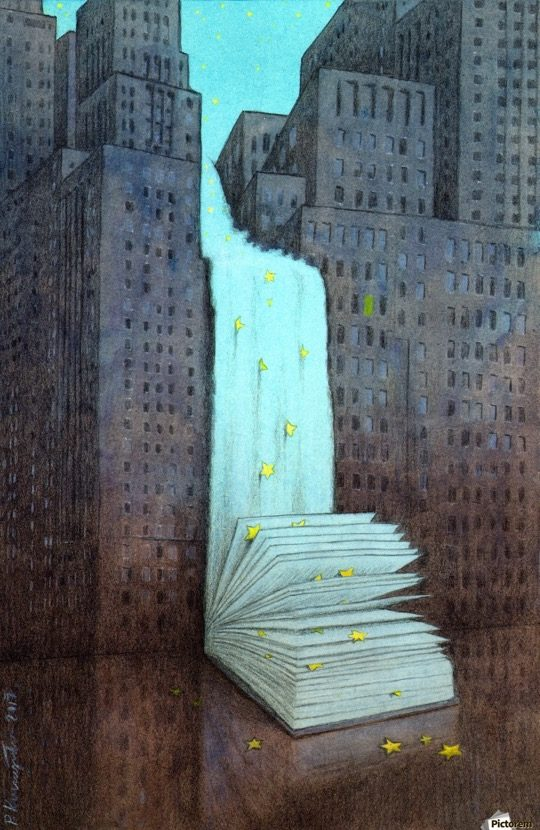 Illustrations about books - Pawel Kuczynski - Dream books
