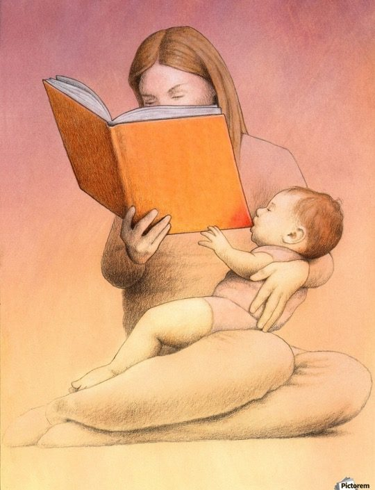 Illustrations about books - Pawel Kuczynski - Eating time