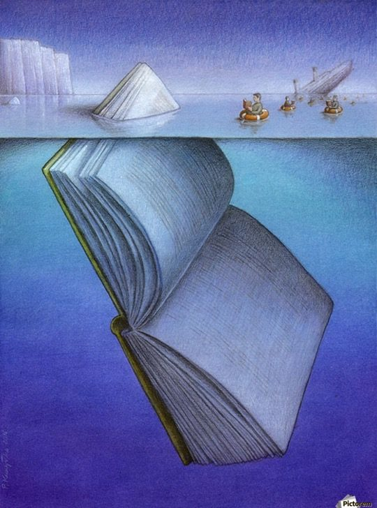 Illustrations about books - Pawel Kuczynski - Iceberg