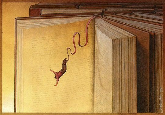 Illustrations about books - Pawel Kuczynski - Sheer excitement