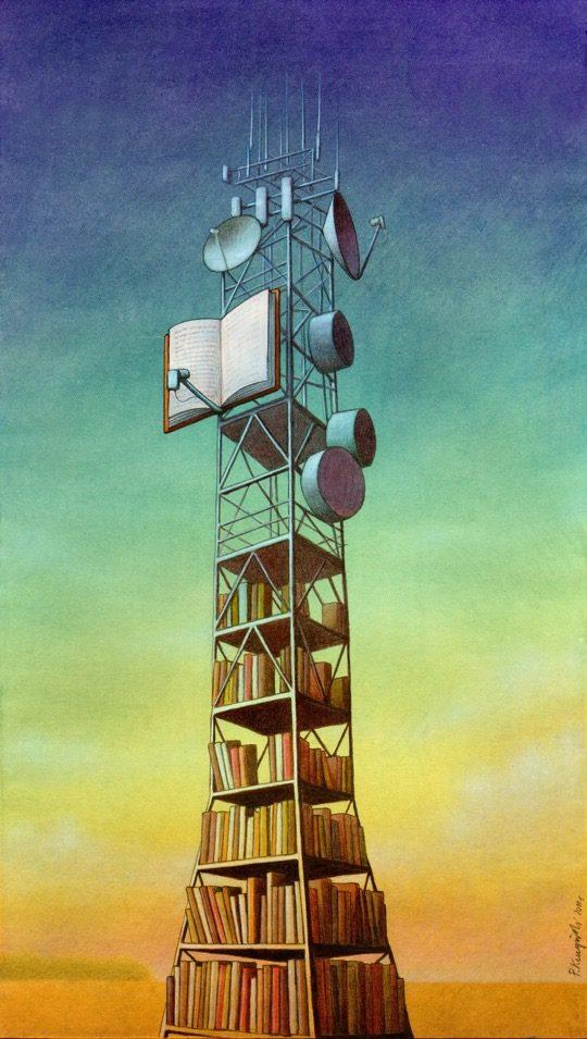 Illustrations about books - Pawel Kuczynski - The learning station