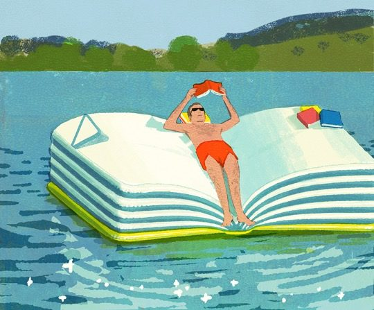 Illustrations about books - Tatsuro Kiuchi - Summer reading list