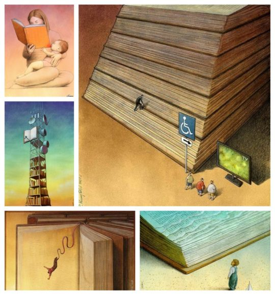Illustrations about books by Paweł Kuczyński
