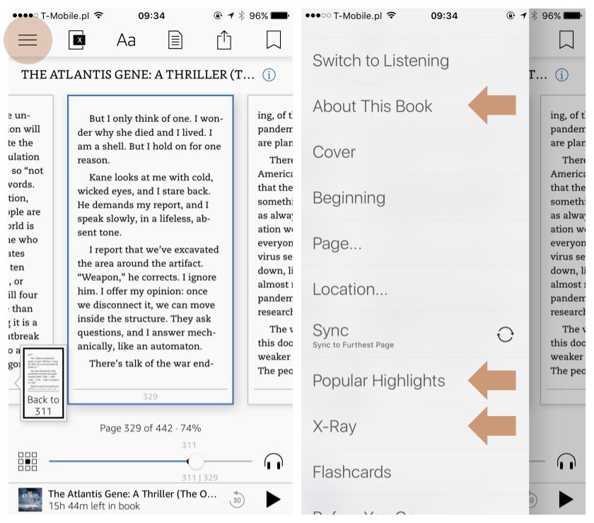 Kindle for iPad and iPhone - learn more about the book using unique features