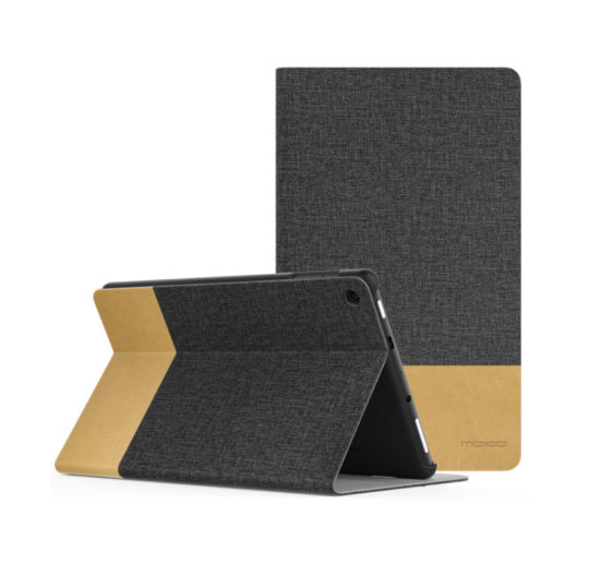 MoKo case for Amazon Fire HD 8 - Dark Gray and Brown