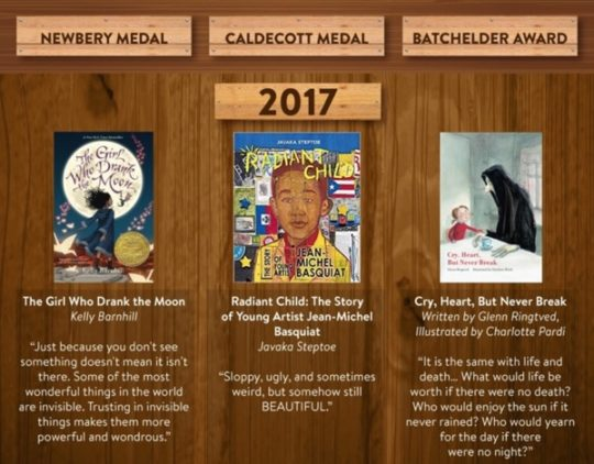 Most interesting quotes from kids books from 2017