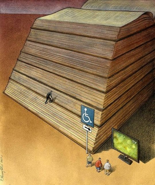 Pawel Kuczynski illustrations - Books vs TV