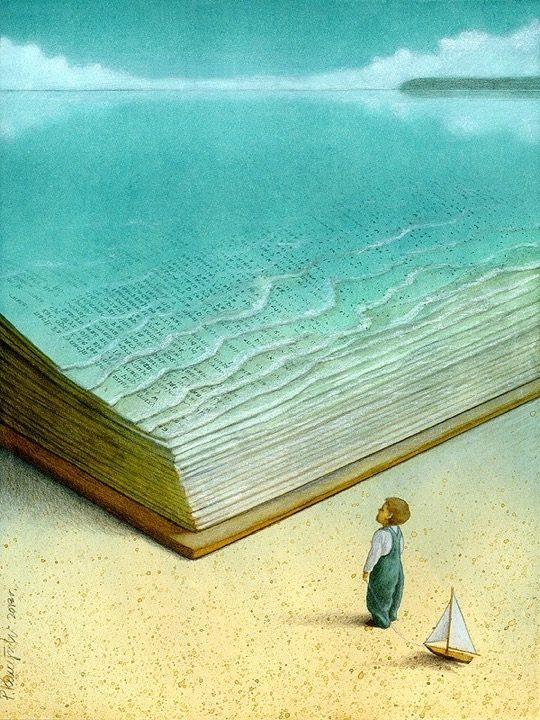 Pawel Kuczynski illustrations - Ocean of knowledge