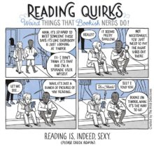 Reading is, indeed, sexy #cartoon