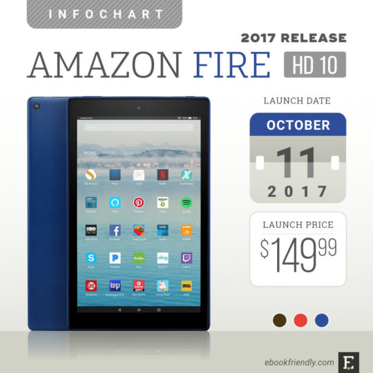 Amazon fire hd 10 2017 tech specs comparisons review round up the 7th generation amazon fire hd 10 was launched in october 2017 fandeluxe Image collections