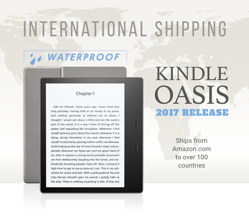 International availability of the waterproof Kindle Oasis 2017