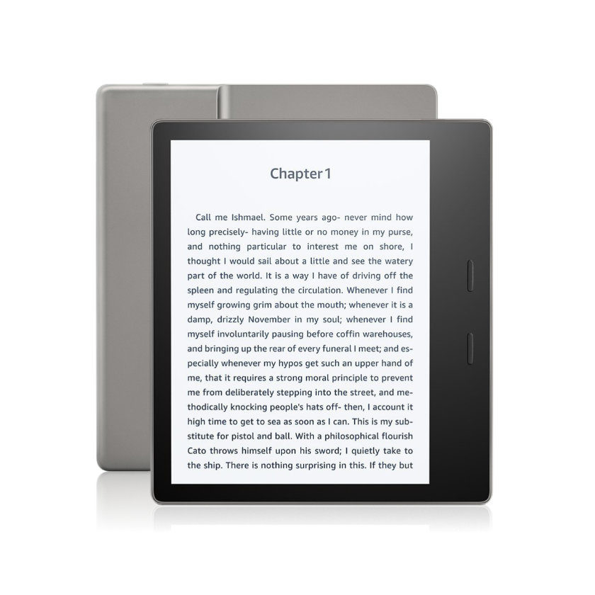 Amazon Kindle Oasis 2017 has the tough glass front and aluminum back