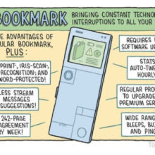 E-bookmark - a cartoon by Tom Gauld