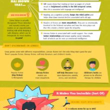 How reading can make you a superhero #infographic