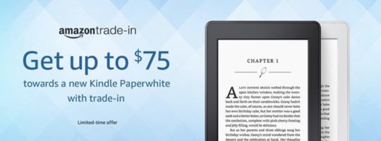 Kindle 10th Anniversary Deals - save up to $75 on Kindle Paperwhite in trade-in deal