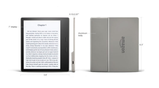 Kindle Oasis 2017 - dimensions and tech specs