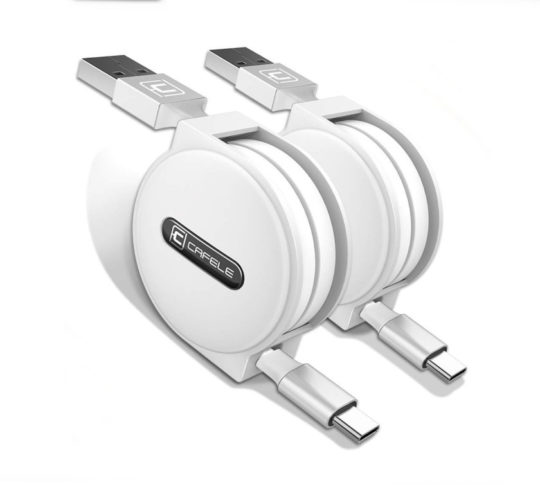 Retractable USB Type C Cable - 2 Pack