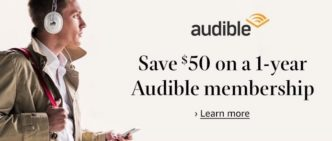 Save $50 on one-year Audible audiobook subscription