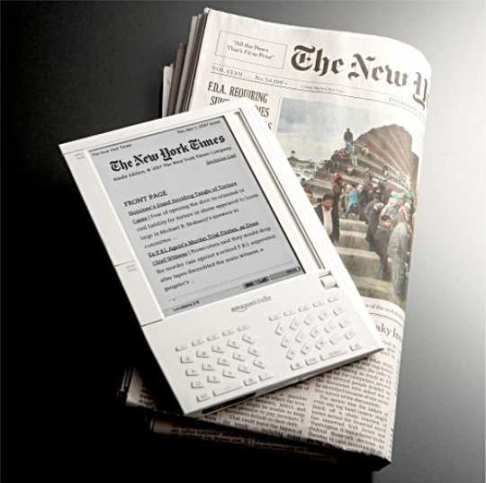 The New York Times on the 1st-generation Amazon Kindle e-reader