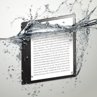 Waterproof Kindle Oasis 2017 e-reader with 7-inch HD screen and Audible built-in