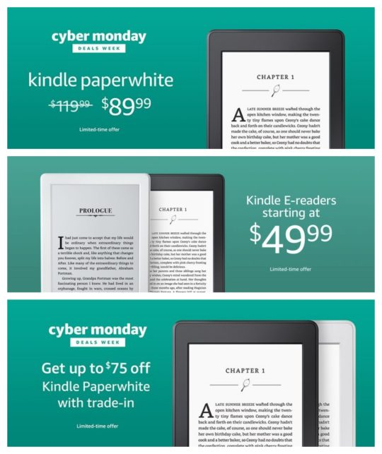 A complete list of Cyber Monday 2017 Kindle deals