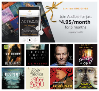 All Audible deals and special offers - Cyber Monday 2017