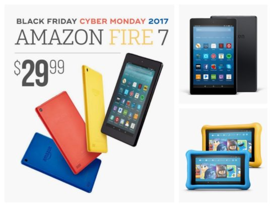 Amazon Fire tablets on sale during Cyber Monday 2017