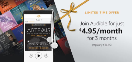 Audible deal on Cyber Monday and beyond - save 65% on membership