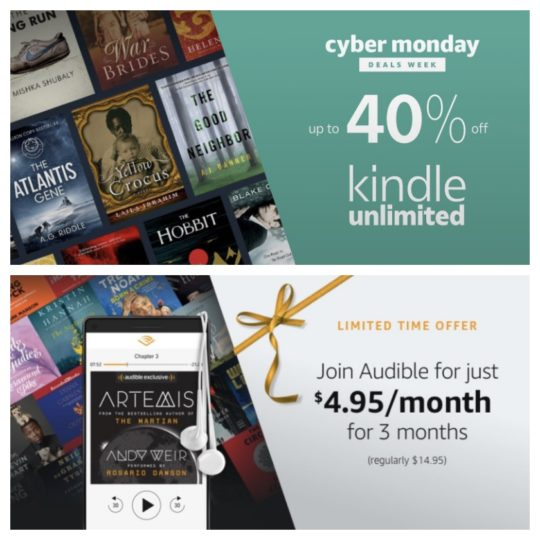 Cyber Monday 2017: the best deals on Amazon services: Audible and Kindle Unlimited