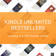 How many Kindle bestsellers are available via Kindle Unlimited?