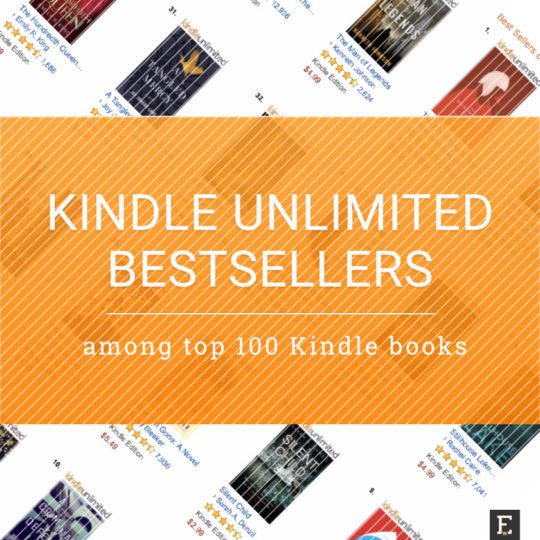 How Many Kindle Bestsellers Are Available Via Kindle Unlimited
