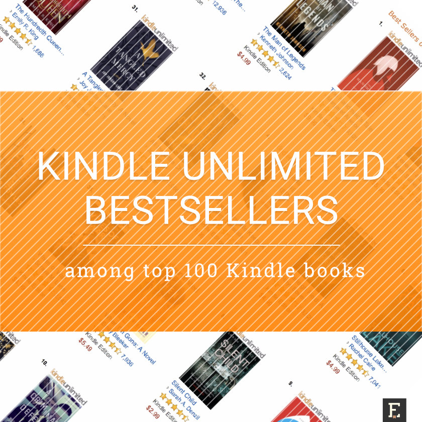 Kindle Unlimited books among top Kindle bestsellers