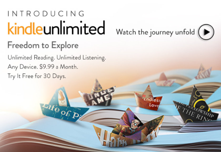Kindle Unlimited was launched on July 18, 2014