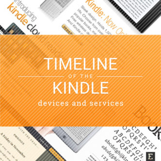 Timeline of Kindle e-readers and services