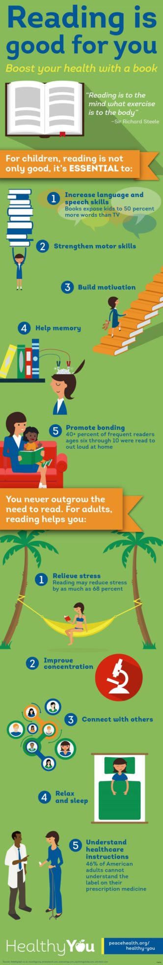 5 ways reading is good for your health #infographic