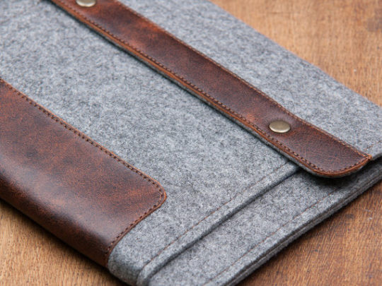 Wise Stitch Kindle Oasis 2017 Gray Felt Sleeve