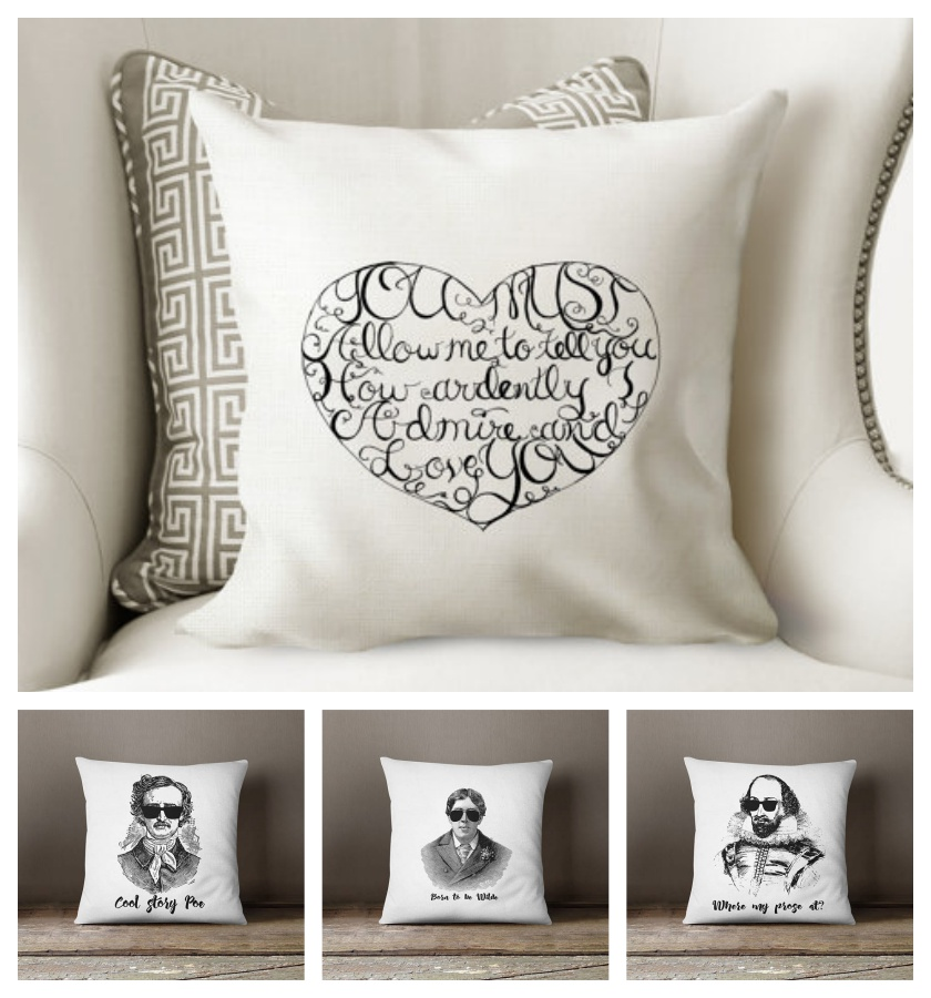 2017 best gifts for booklovers - Literary pillows from Ponder and Dream