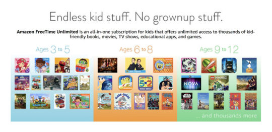 Amazon FreeTime Unlimited subscription is available on Fire tablets