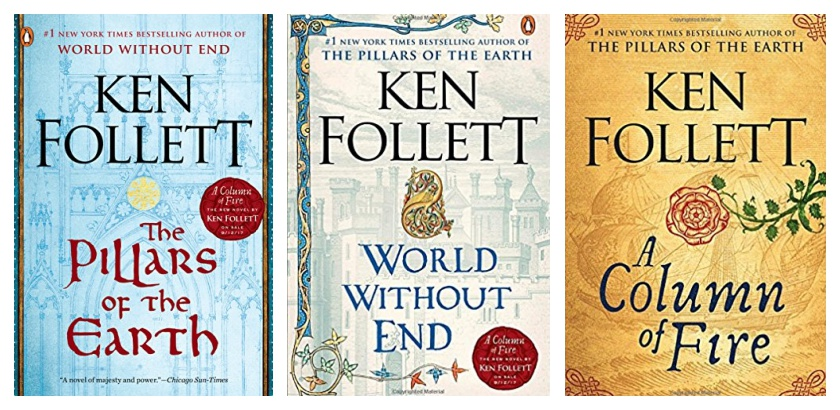 Best book gifts of 2017 - Kingsbridge series by Ken Follett