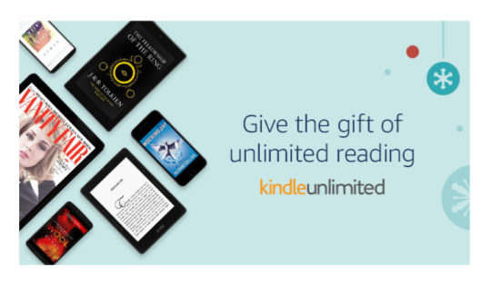 Best bookish gifts of 2017 - Kindle Unlimited ebook subscription
