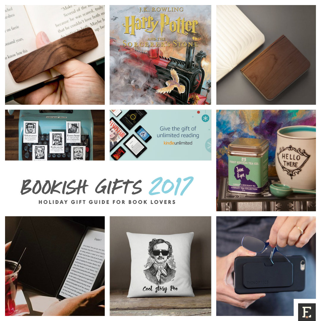 Gift guide for book lovers - top bookish gifts of 2017