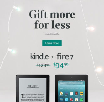 Great holiday gift: Kindle & Fire 7 bundle $35 off