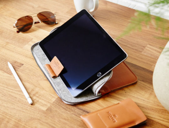 Harper London iPad Pro Leather Folio Sleeve