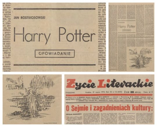 Harry Potter short story from 1972 written by a Polish author in 1972
