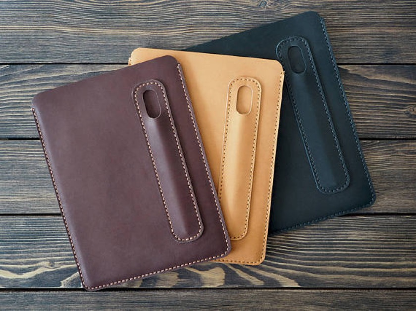 Inside Gift iPad Pro 10.5 Leather Sleeve in available in three colors