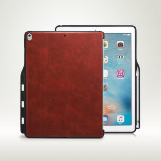Khomo iPad Pro 12.9-inch Leather Case with Pen Holder
